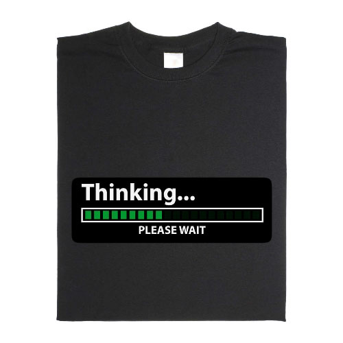 Animiertes Thinking… please wait T-Shirt
