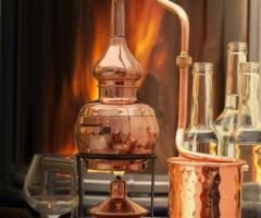Destillieranlage Alembik mit Spiritusbrenner