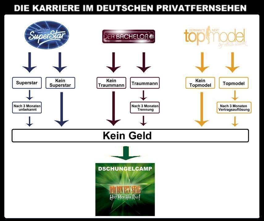 Die Karriere im deutschen Privatfernsehen