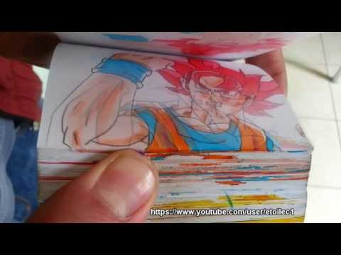 EPIC BATTLLE! Goku vs Superman Flipbook Animation