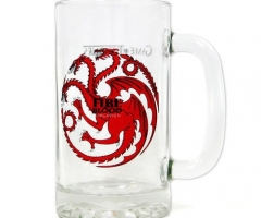 Game of Thrones Glas Bierkrug Fire and Blood Targaryen