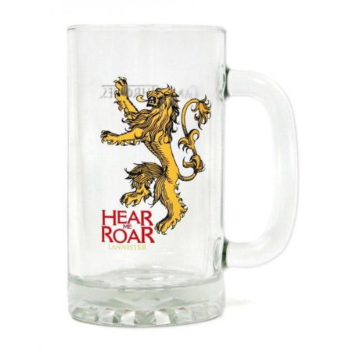 Game of Thrones Glas-Bierkrug Hear Me Roar