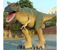 Lebensgroßer T-Rex in Angriffshaltung als Gartendeko