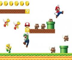 New Super Mario Wandaufkleber und Wandtattoo von Nintendo