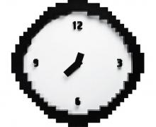 Pixel Wanduhr