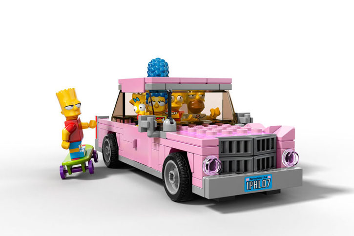 The Simpsons LEGO Set - Homers Auto