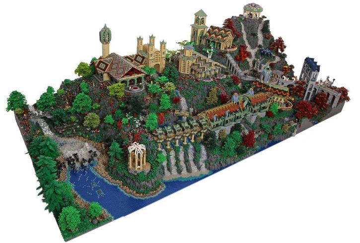 Tolkien's Bruchtal (Rivendell) aus 200.000 LEGO Steinen